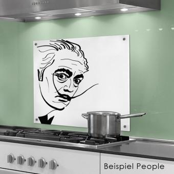 COGNOSCO Küchenrückwand 50x60 cm aus Glas - Dali