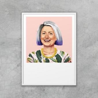 edition ij HIPSTORY Hillary Clinton DIN A5-Wandprint