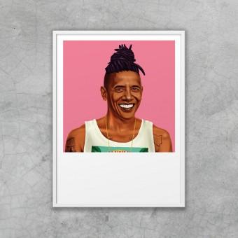 edition ij HIPSTORY Barack Obama DIN A5-Wandprint