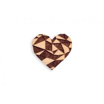 BeWooden Brosche aus Holz - Love Brooch