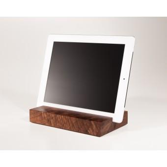 WOOD U? Halterung / Halter für iPad und Tablet aus Nussbaumholz