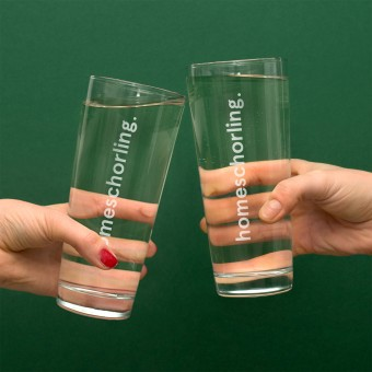 "Weinschorlen-Glas ""homeschorling"" (2er-Set) – Vorbestellung"