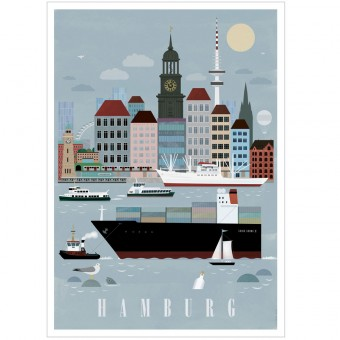 Human Empire Hamburg City Poster (Din A3)
