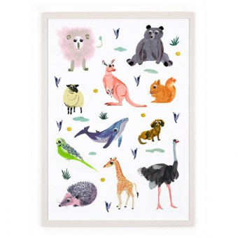 Human Empire Charlines Animals Poster (50x70cm)
