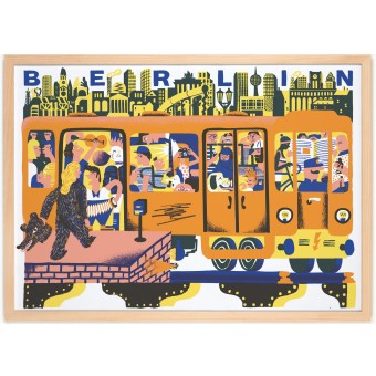 Human Empire Berlin Tube Poster (50x70cm) by Golden Cosmos
