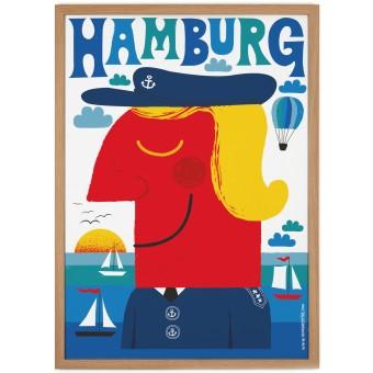 Human Empire Blaues Hamburg Poster (50x70cm)