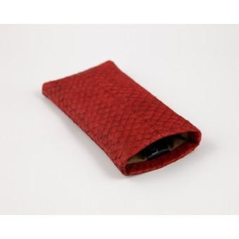 Lapàporter Lederhülle für iPhone 7  Lachsleder (rot)
