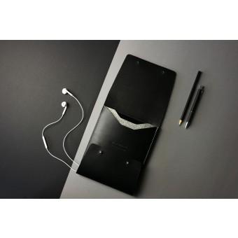 Alexej Nagel Elegante Hülle für iPad mini /2/3/4 aus Premiumleder - Schwarz [BL]