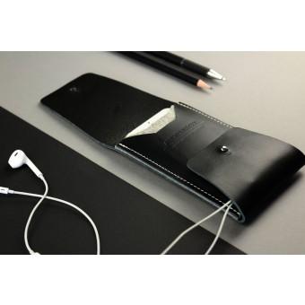 Alexej Nagel Elegante iPhone 6 Plus / 6S Plus Hülle aus Premiumleder - Schwarz [BL]