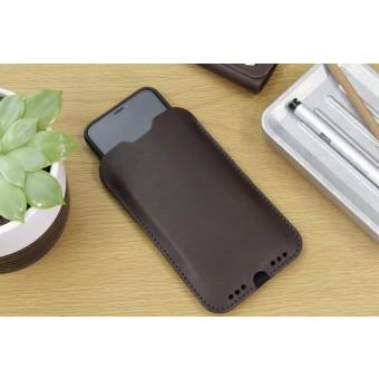 Pack & Smooch Kingston - iPhone 11 Pro / XS Hülle aus pflanzlich gegerbtem Leder mit 100% Merino Wollfilz innen kaschiert. Breite Version!