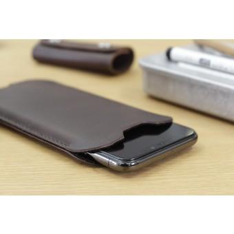 Pack & Smooch Kingston - iPhone 11 Pro Max / XS Max Hülle aus pflanzlich gegerbtem Leder mit 100% Merino Wollfilz innen kaschiert. Schmale Version!