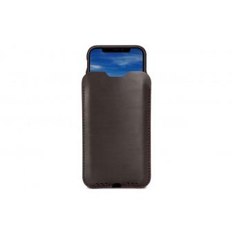Pack & Smooch Kingston - iPhone 11 Pro Max / XS Max Hülle aus pflanzlich gegerbtem Leder mit 100% Merino Wollfilz innen kaschiert. Breite Version!