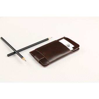 Alexej Nagel Slim Fit Hülle für iPhone 6 / 6S / 7 aus Premium Leder - Braun [BR]