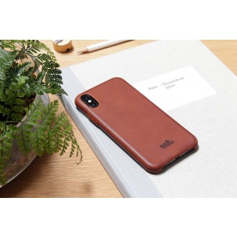 Pack & Smooch iPhone X Leder Schutzhülle, Back Cover (Vegetable tanned leather)