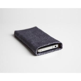Lapàporter iPhone SE(2020) case Lachsleder (platin)