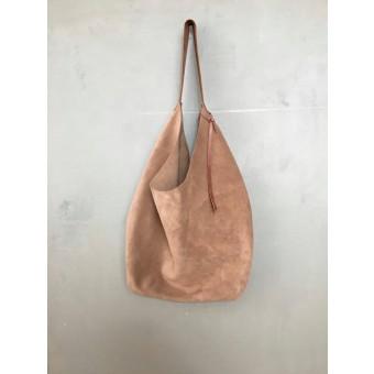 BSAITE großer Beutel aus echtem Leder / Schultertasche / Bag / beige