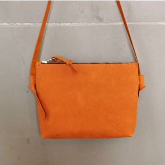 BSAITE kleine Handtasche / Crossbody Bag / Echt Leder / Orange