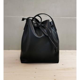 BSAITE Lederbeutel / Shopper Tasche / Bucket Bag / schwarz
