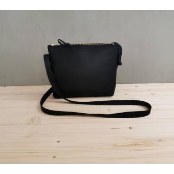 BSAITE kleine Umhängetasche / Crossbody Bag / Echt Leder / schwarz