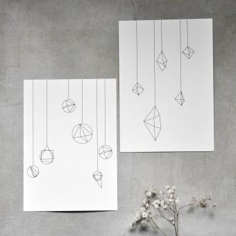 nahili 10er-Set POSTKARTEN in love with shapes