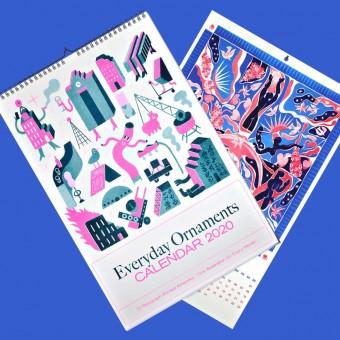 Black Matter – 1+1 EVERYDAY ORNAMENTS 2020 Monats- und Quartalskalender, 17 Kunstdrucke, DIN A3