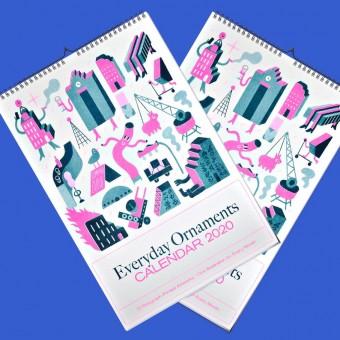 Black Matter – 2x EVERYDAY ORNAMENTS 2020 Monatskalender, 13 Kunstdrucke, DIN A3