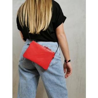 BSAITE Rote Umhängetasche / Smartphone Bag / Mini / Echt Leder