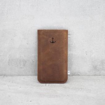 ElektroPulli Handyhülle aus Leder mit Motiv - iPhone X