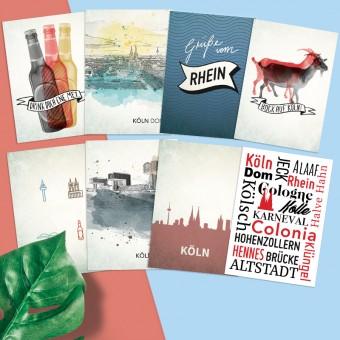 Stadtliebe® | Köln Postkarten 8er Set