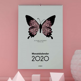 "stahlpink – Monatskalender 2020: ""So you're different. That's ok."""
