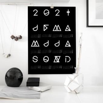 nahili 2021 KALENDER - schwarz - Geometrical ABC (diverse Farben, DIN A3 & 50x70cm Poster)