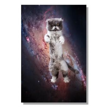 Kunstprint Poster Katzmonauten Karl Katze im Weltall 30x40cm cats in space