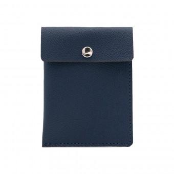 Kartenetui in marineblau - aus premium pflanzlich gegerbtem Leder
