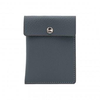 Kartenetui in grau - aus premium pflanzlich gegerbtem Leder
