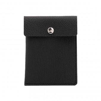 Kartenetui in schwarz - aus premium pflanzlich gegerbtem Ziegenleder
