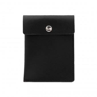 Kartenetui in schwarz - aus premium pflanzlich gegerbtem Leder