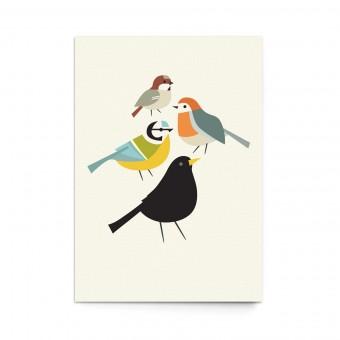 """sonst noch was? Postkarte """"Birdies"""" (3er Set)"""