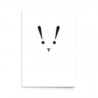 """sonst noch was? Postkarte """"Typo-Hase"""" (3er Set)"""