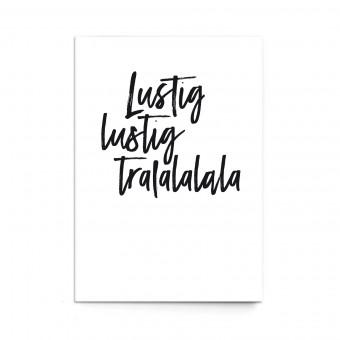 """sonst noch was? Postkarte """"Lustig Lustig Tralalala"""" (3er Set)"""