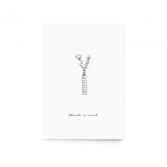 """sonst noch was? - Postkarte """"thanks so much"""" (3er Set)"""