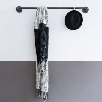various Industrial Style Kleiderstange · Wandgarderobe im Industriedesign SOLID LINE - Tiefe 12 cm - Breite 80 cm (Sonderanfertigung)