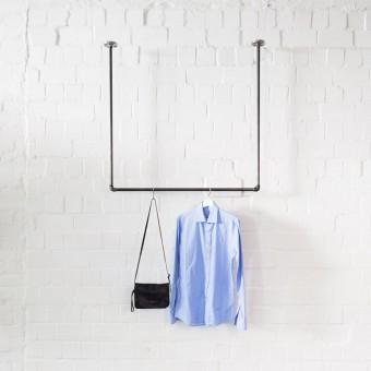 various Kleiderstange für Deckenmontage im Industrial Design · Deckenbefestigte Garderobe SWING (Sonderanfertigung)