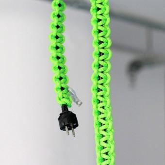knot*knot 2m schwarze Verlängerung mit neongrünem Strangknoten