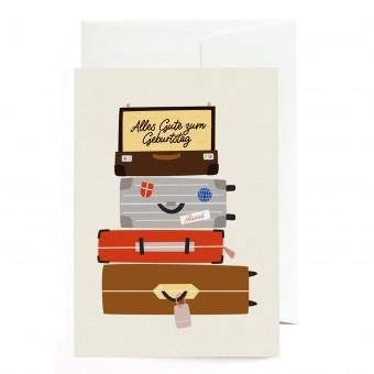 Roadtyping Geburtstagskarte - Koffer