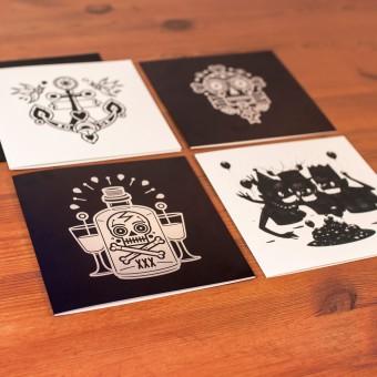 """Krools Design Postkarten """"Tattoo"""" #1"""
