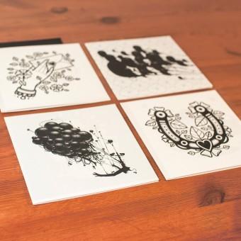 """Krools Design Postkarten """"Tattoo"""" #2"""