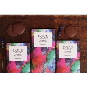 3x Coco Chocolatier Milchschokolade Lavendel (40%)