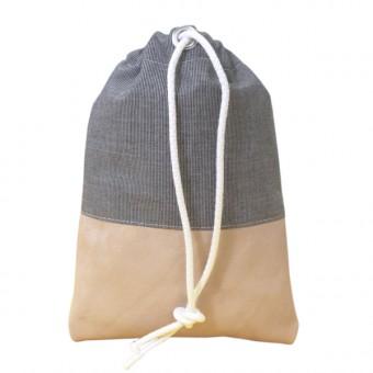 alvaGold Leni Recyclingtasche  aus wiederverwendetem Markisentuch/Leder (grau)