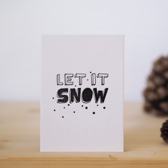 finicrafts Let it snow Letterpress-Postkarte