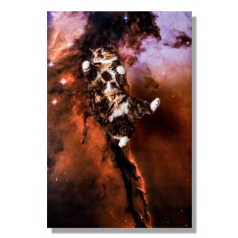 Kunstprint Poster Katzmonauten Lotti Katze im Weltall 30x40cm cats in space